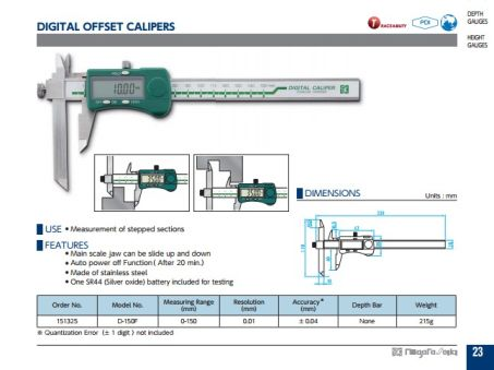 Digital Offset Calipers (D-150F) 2