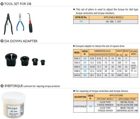 Special Tools for Torque Wrench 3